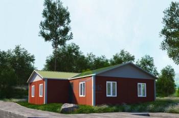 117 m²  3+1 Prefabrik Ev
